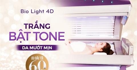 Trắng mịn tự nhiên nhờ tắm trắng Bio Light 4D