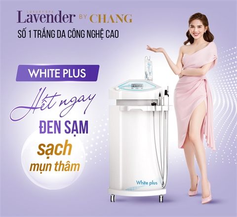 White Plus – Nuôi da trắng khỏe nhờ trị liệu mặt 5in1