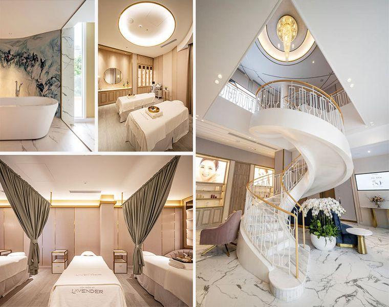 Cơ sở vật chất hiện đại, đẳng cấp cùng không gian làm đẹp chuẩn luxury.