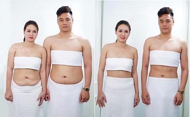 Cặp vợ chồng giảm béo thành công nhờ kiên trì tập luyện