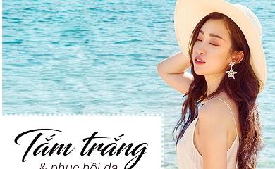 Bất chấp chụp ảnh dưới nắng, đây là cách hoa hậu Mỹ Linh giúp da nhả nắng trắng bóc